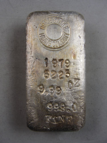 9 99 Troy Ounce Homestake Mining Company Vintage Poured